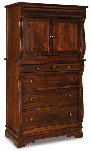 Chippewa Sleigh Chest Armoire 2 piece JRCS 039
