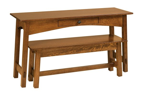 McCoy Open Nesting Sofa Table w/ bench