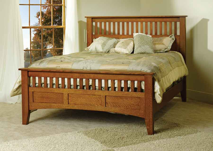Mission Antique Bed TR1001 - Mission Antique Bed TR1001 For $1,150.00 In Bedroom Amish Furniture