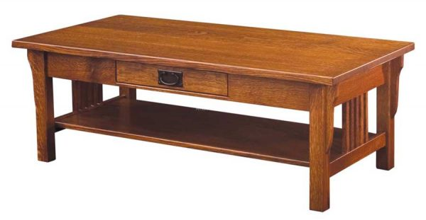 Camden Mission Coffee Table- open