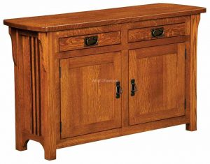 Craftsman Mission Cabinet Sofa Table
