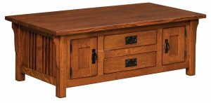 Elliot Mission Cabinet Coffee Table