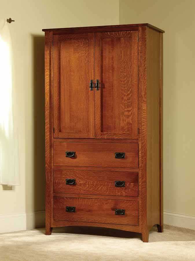 Mission Antique Armoire TR1003 - Mission Antique Armoire TR1003 For $1,920.00 In Bedroom Amish