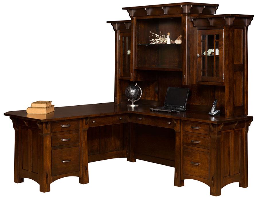Manitoba Corner Desk for $3,390.00 in Office | Amish Furniture