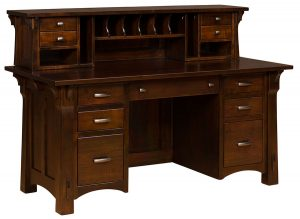 Manitoba File Desk shown with optional topper