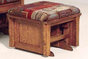 Bow Arm Panel Ottoman 722 BAPO