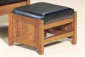 Bow Arm Panel Morris Footstool 470 BAPMF