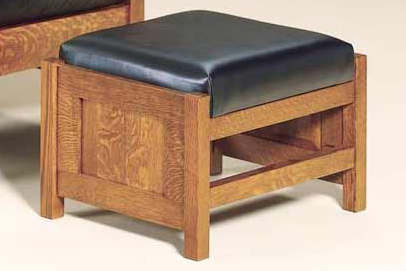 Bow Arm Panel Morris Footstool 470 BAPMF