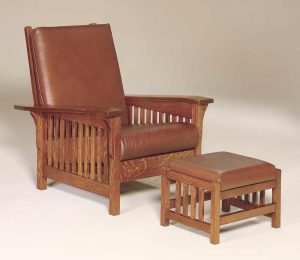 Clearspring Slat Morris Chair w/ footstool 301 CSMC