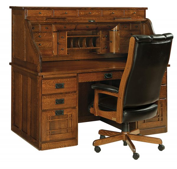 Fine Mission Deluxe Roll Top Desk Rw2002 Dailytribune Chair Design For Home Dailytribuneorg