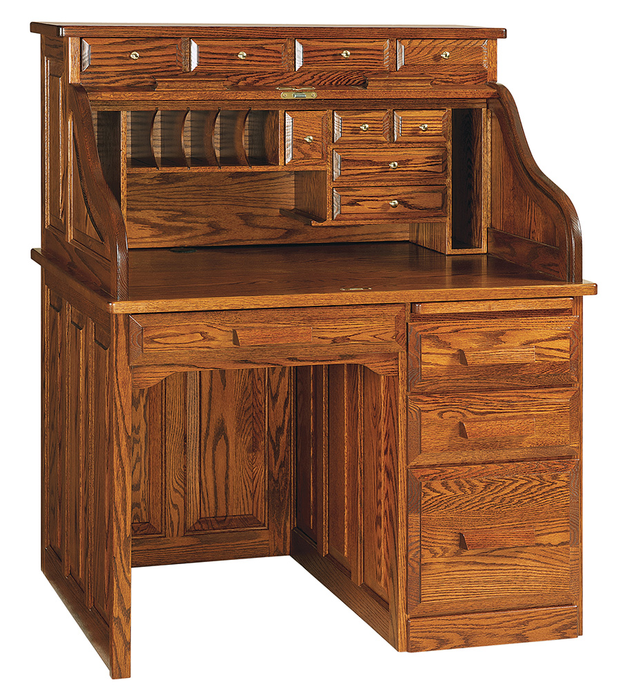 Classic Single Pedestal Roll Top Desk Rw2007