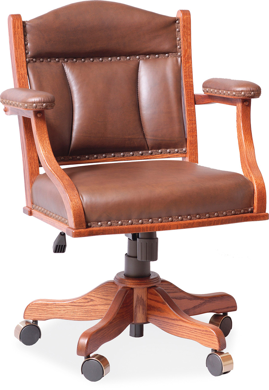 Low Back Desk Arm Chair In Office Amish Furniture