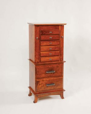 "48"" Split Shaker Jewelry Armoire w/5"" Legs: 123"