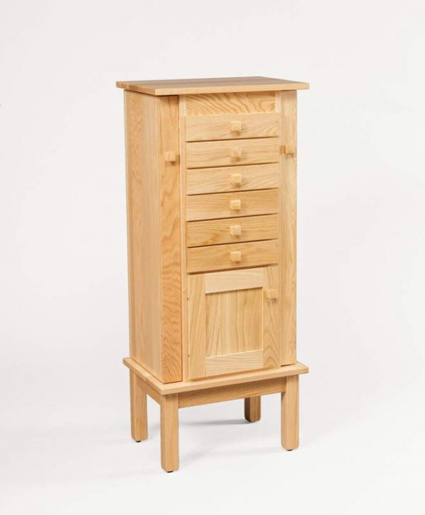 """48"""" Winged Mission Jewelry Armoire 130"""