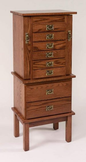 "48"" Split Mission Jewelry Armoire 131"