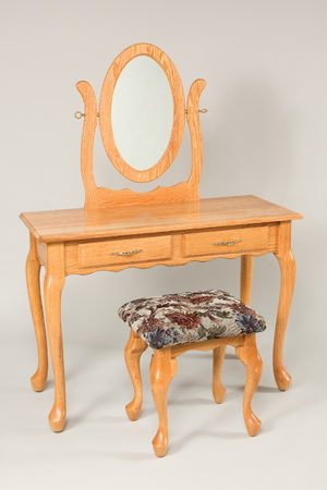 "42"" Queen Anne 2 Drawer Dressing Table 710"