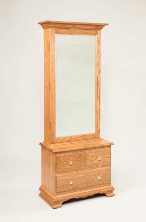 Bennett Mirrored Jewelry Armoire w/3 Drawer Base 905
