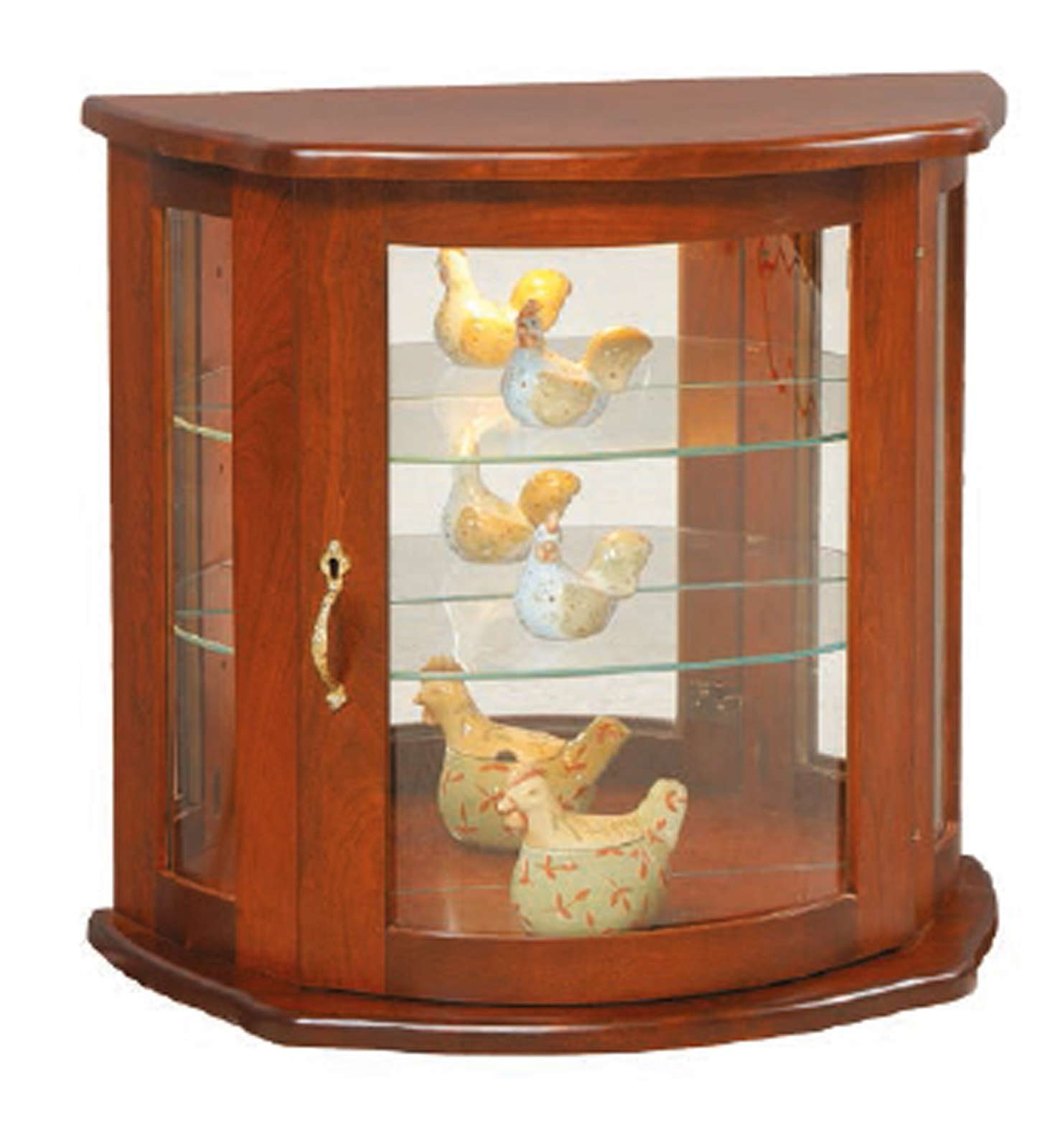 wall curio cabinet flat wall curio 2010 for 499 00 in dining room amish 28051