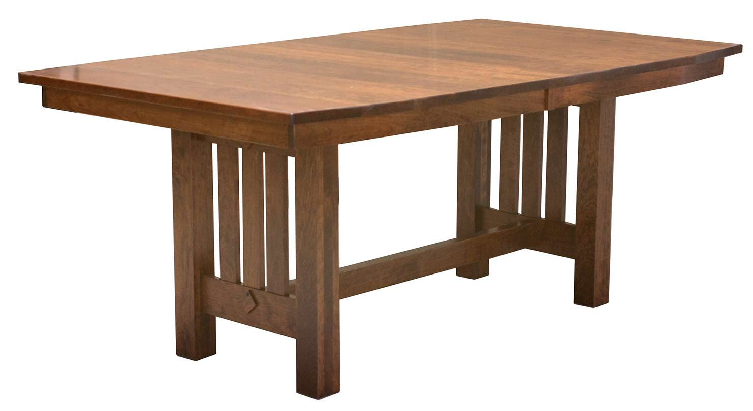 Bellchester Trestle Table - 42x72 - Up to 4 leaves