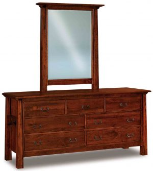Artesa 7 Drawer Dresser 072 w additional mirror