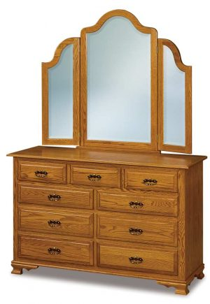 Hoosier Heritage Beveled Waterfall Tri-view Mirror JRH 049