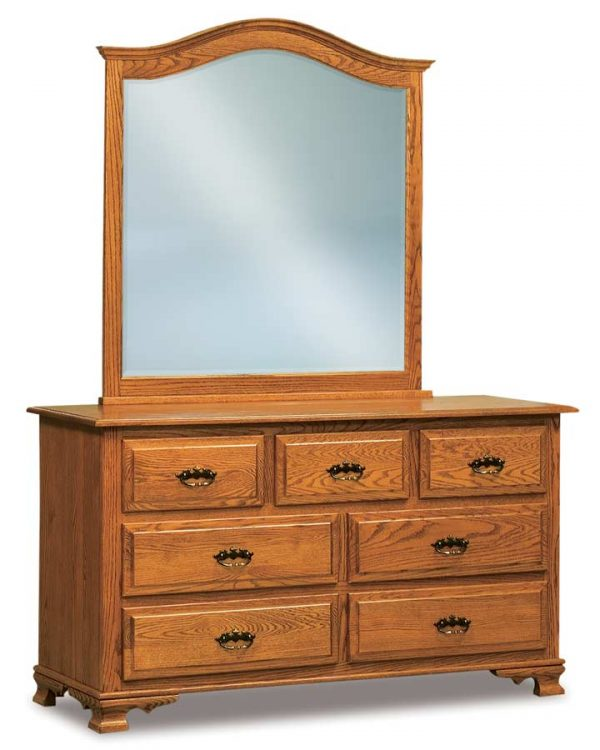 Hoosier Heritage Shaker Arch Crown Mirror JRS 048