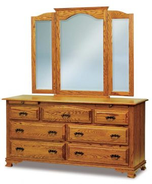 Hoosier Heritage 7 Drawer Dresser with Arch Drawer JRH067