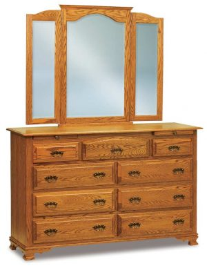 Hoosier Heritage 9 Drawer dresser with Arch Drawer JRH 067-1