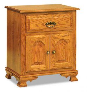 Hoosier Heritage 1 Drawer 2 Door Nightstand 028