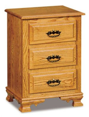 Hoosier Heritage 3 Drawer Nightstand JRH 021