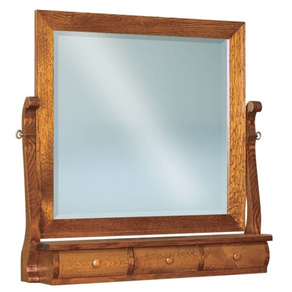 Old Classic Sleigh Beveled Swinging Mirror w/ 3 Drawers JRO 030-3