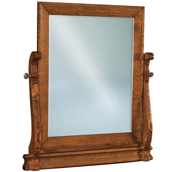 Old Classic Sleigh Beveled Swinging Mirror JRO 030-1