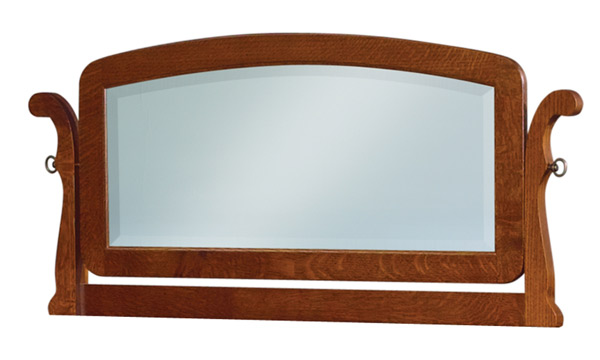 Old Classic Sleigh Small Arched Swinging Mirror JRO 038