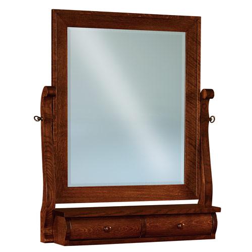 Chippewa Sleigh Swinging Mirror w/ 2 Drawers JRCS 030-2