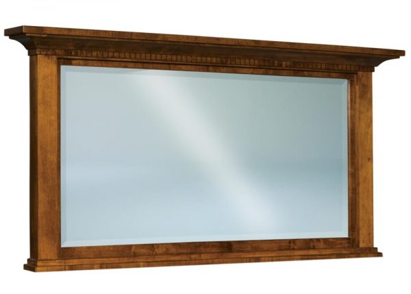 Empire Beveled Square Post Crown Mirror JRE 031