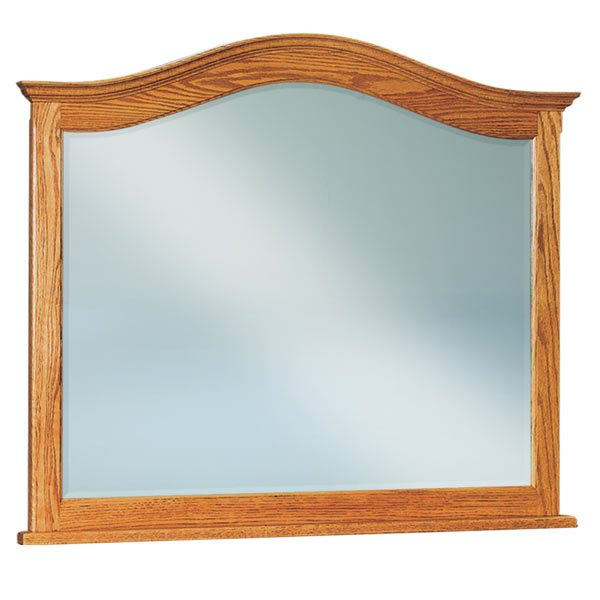 Beveled Arched Crown Dresser Mirror JRS 034
