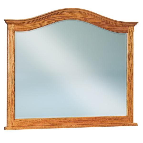 Shaker Beveled Arched Crown Dresser Mirror Amish Furniture