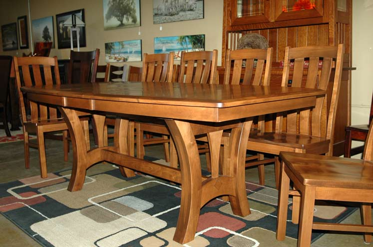 Grand Island Trestle Table in Dining Tables | Amish Furniture