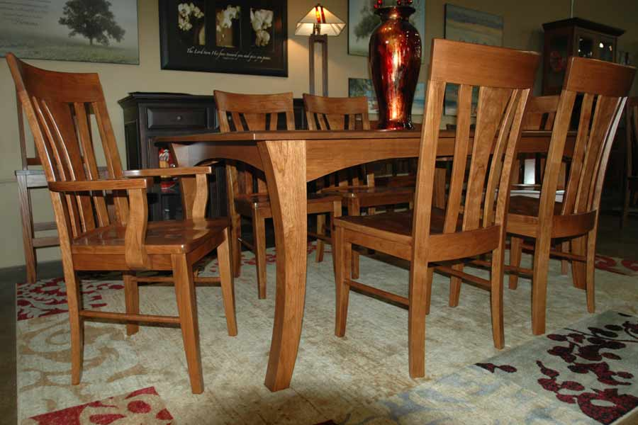 Shown In Cherry Wood And S14 Stain With Metro Chairs