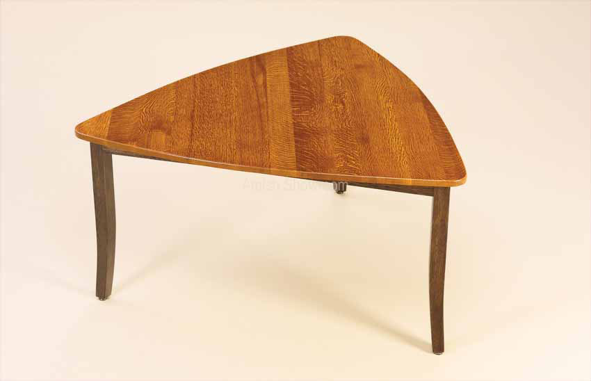 Trinidad triangle leg table in dining tables amish furniture