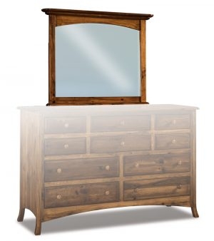 Carlisle Beveled Arched Crown Mirror