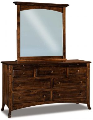 Carlisle 7 Drawer Dresser with Arched Drawer