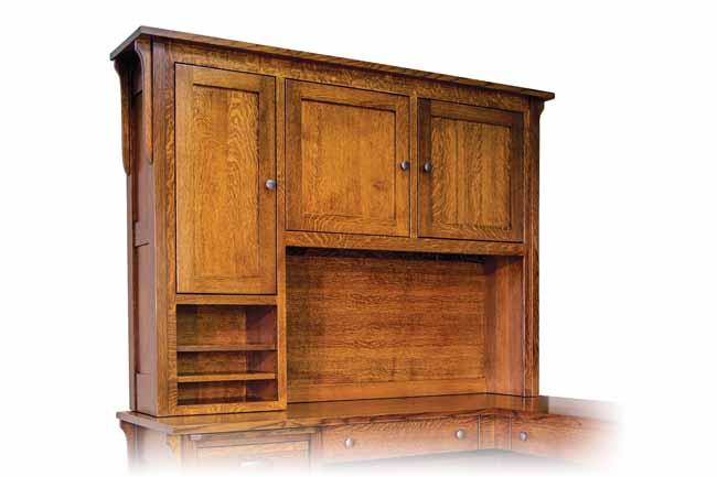 Boston Corner Desk Hutch Topper   Buy Custom Amish Furniture   Amish  Furniture For Sale In Coates, MN   Amish Showroom