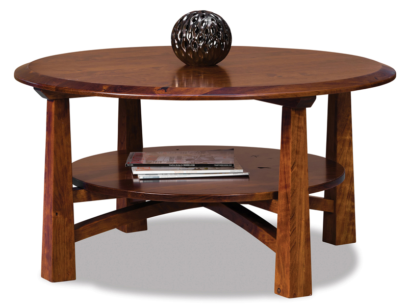 Artesa Round Coffee Table  sc 1 st  Amish Showroom & Mission Style Living Room Furniture | Custom Coffee Tables | End ...