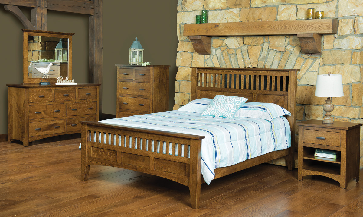 Siesta Mission Bedroom Set In Bedroom Amish Furniture