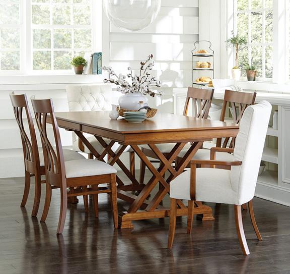 Heyerly Trestle Table - Buy Custom Amish Furniture | Amish ...