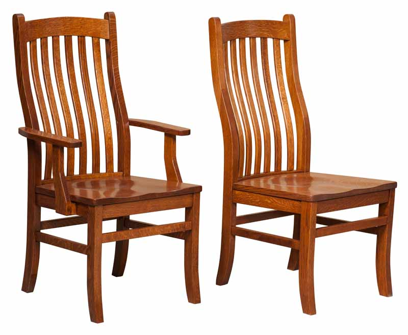 Arts Crafts Dining Chair Buy Custom Amish Furniture Amish