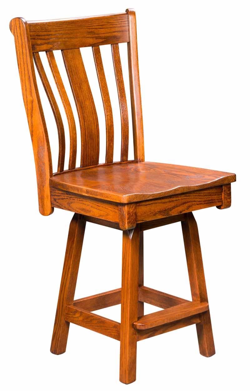Bayridge Swivel Bar Stool Buy Custom Amish Furniture