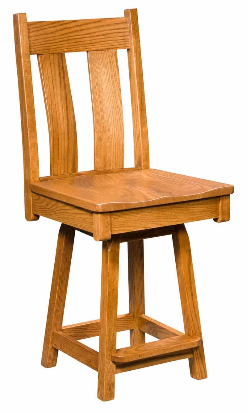 Bostonian Swivel Bar Stool Buy Custom Amish Furniture