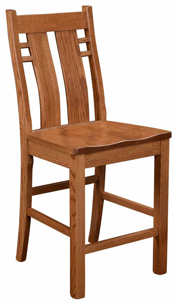 "24"" Stationary Bungalow Barstool"